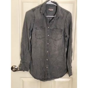 Target Merona Grey Western Button Up